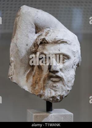 Copenhague. Dinamarca. Cabeza de un centauro, del Partenón de Atenas. Museo Nacional de Dinamarca. Comprado en Atenas en 1687 por un oficial de la Marina Danesa.