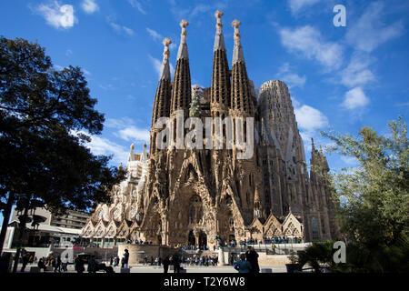 La Iglesia de la Sagrada Familia en Barcelona