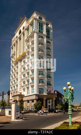 Camboya, Kampong (Kompong Cham), del centro de la ciudad, LBN Asiática, Tall Riverfront Hotel alojamiento