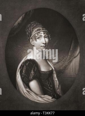 A Hortense Eugénie Cécile Bonaparte, née de Beauharnais, 1783 - 1837. Reina consorte de Holanda.