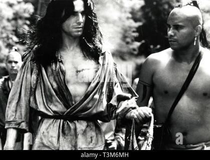 Daniel Day-Lewis en la película el último de los mohicanos, 1992