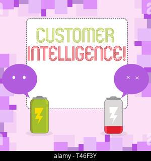 Escritura a mano Conceptual Mostrando la inteligencia de clientes. Concepto Significado proceso de análisis de información acerca de clientes cargue y descargue completamente