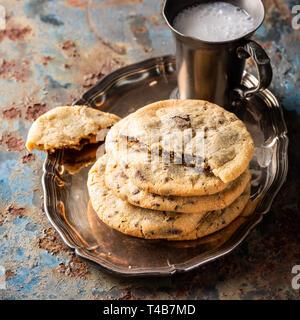 Las galletas con trocitos de chocolate