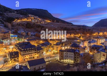 Paisaje urbano de Canillo, Andorra.