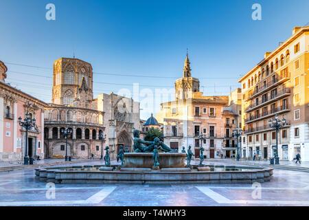 Plaza de la Virgen, Valencia, Comunidad Valenciana, España