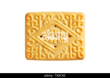 Natillas Crema, cortar las galletas Foto de stock