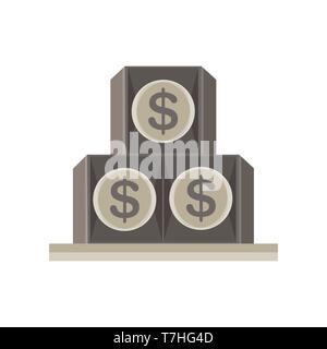 Pirámide ojo dollar viendo todos los Illuminati símbolo vector icono aislado Foto de stock