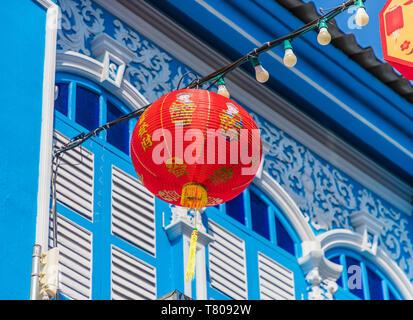 Hermosa sino arquitectura portuguesa en la Ciudad Vieja de Phuket, Phuket, Tailandia, el sudeste de Asia, Asia