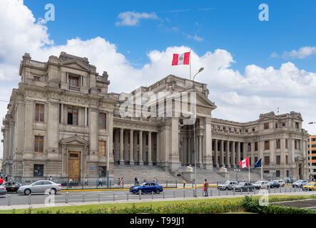 Palacio de Justicia (Palacio de Justicia), Paseo de la República, Lima, Perú, América del Sur