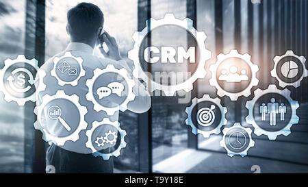 Análisis de la gestión de CRM cliente empresarial concepto de servicio. Gestión de relaciones