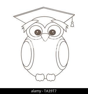 Una Caricatura De Wise Owl Vistiendo Un Birrete El Profesor