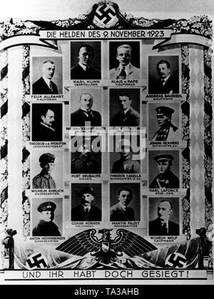 Beer Hall Putsch 1923, 8. / 9.11.1923, montado la Policía Bávara está  abandonando la Odeonsplatz, Munich, 9.11.1923, Adolf Hitler, Erich  Ludendorff, golpe de estado, revuelta, policía, Estado libre de Baviera,  Alemania, República
