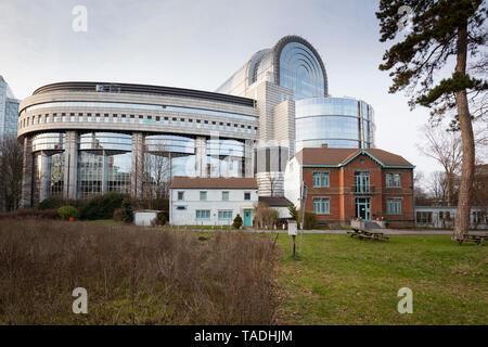 Bélgica, Bruselas, el barrio europeo, el Parlamento Europeo