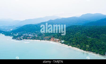 Antena de Klong Prao beach en Koh Chang Trad, parque nacional de Tailandia,