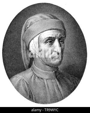 Dante Alighieri (1265-1321), poeta y filósofo italiano, , (libro de historia, 1902)