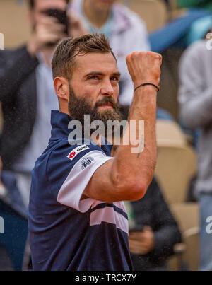 París, Francia, el 3 de junio, 2019, el tenis, el Abierto de Francia, Roland Garros, Benoit Paire (FRA) Credit: Henk Koster/Alamy Live News