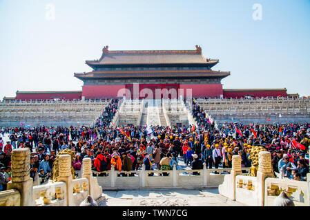 Hall de la Suprema Armonía de la ciudad prohibidos en Beijing Foto de stock