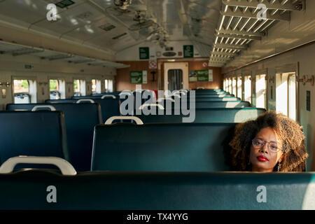 Retrato de una joven en un tren