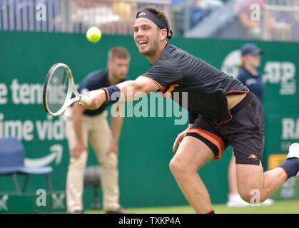 Cameron Norrie (GBR) en Eastbourne, Reino Unido. El 25 de junio, 2019. Nature Valley International tennis en Devonshire Park.
