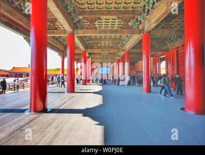 Otoño en el palacio imperial en Beijing Foto de stock