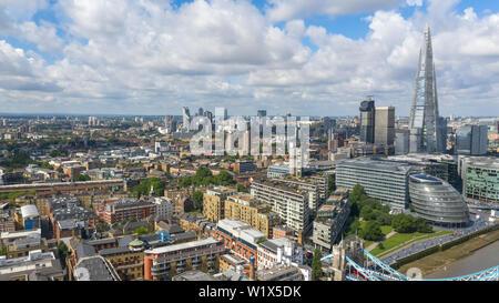El Shard de skyline londinense el Shard London Gran Bretaña panorama aéreo Londres Reino Unido capital GB UK Inglaterra destino turístico