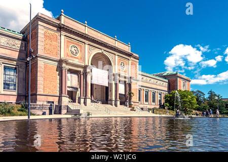Entrada de Statens Museum for Kunst (galerías de arte nacional) en Copenhague Dinamarca Voldgade Øster Europa