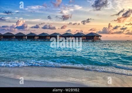 Esta imagen es la única playa natural de una isla en las Maldivas. Es el último paraíso en la tierra