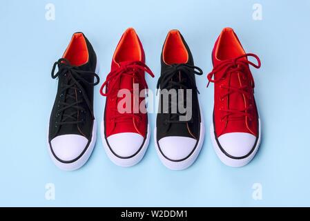 zapatillas rojas y negras de gimnasia adidas