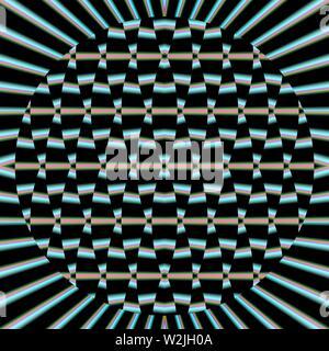 Una imagen creada con gráficos de computadora, una imagen de un objeto matemático llamado fractal.