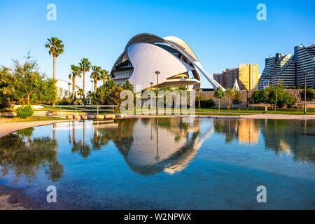 El Palau de les Artes Reina Sofía, Valencia, España, Europa.