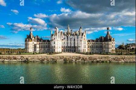Castillo de Chambord, el castillo más grande del valle del Loira, Francia