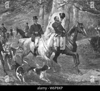 """Leamos, pues, el """"Ulises"""" de James Joyce - Página 5 El-principe-de-gales-como-caza-man-de-finales-del-siglo-xix-1901-el-principe-albert-edward-1841-1910-futuro-rey-eduardo-vii-durante-un-viaje-de-caza-del-zorro-desde-el-illustrated-london-news-record-del-glorioso-reinado-de-la-reina-victoria-1837-1901-la-vida-y-la-adhesion-del-rey-edward-vii-y-la-vida-de-la-reina-alexandra-londres-1901-w6p8kp"""