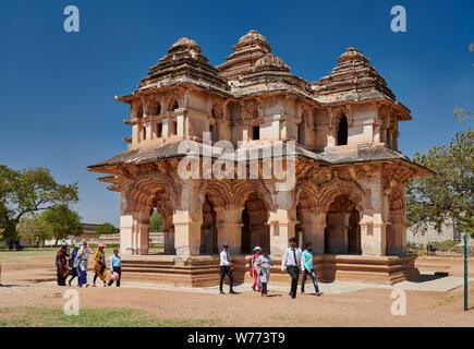 Lotus Mahal, Hampi, MUNDIAL DE LA UNESCO sitio heritge, Karnataka, India