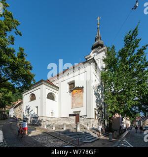 Ljubljana, Eslovenia. El 3 de agosto de 2019. El punto de vista de la iglesia de San Florián en el centro de la ciudad Foto de stock