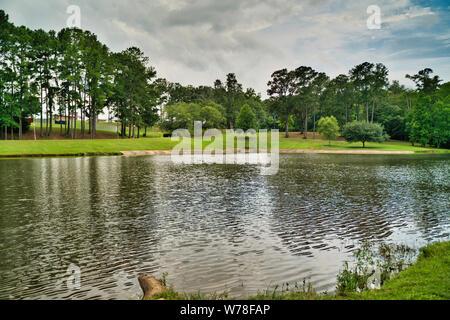 Hermoso paisaje de alta definición fotografía, parque Henderson, Enterprise Alabama