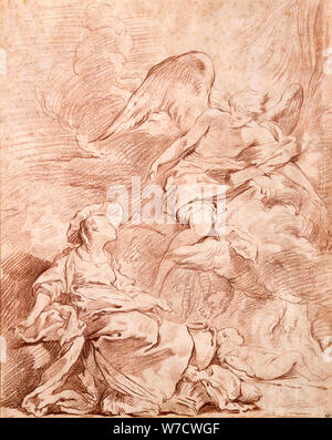 Estudio, (1715-1739?). Artista: Pierre Charles Trémolières