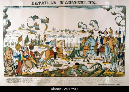 """""""La Batalla de Austerlitz"""", 2 de diciembre de 1805, (c1835). Artista: François Georgin"""