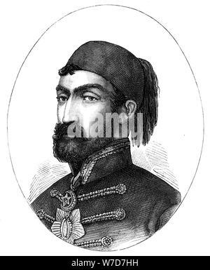Omar Pasha (1806-1871), comandante en jefe del ejército turco, (1888). Artista: Desconocido