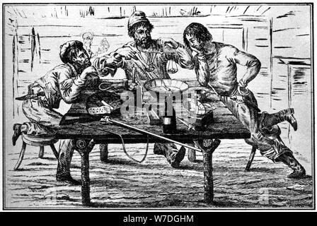 Sopesar sus mineros de oro, del siglo XIX (1937).Artista: Britton & Rey