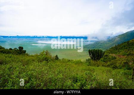 En el Área de Conservación de Ngorongoro, Tanzania. Vista del cráter