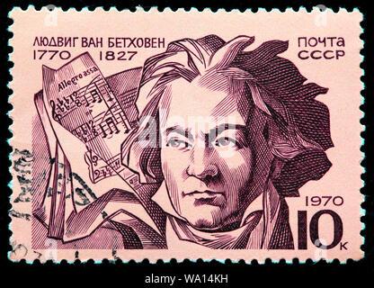 Ludwig van Beethoven (1770-1827), sello, Rusia, URSS, 1970