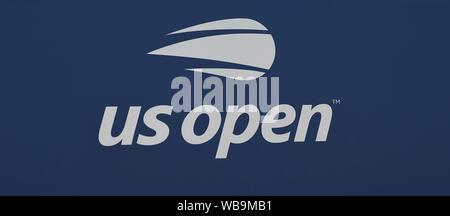 Nueva York, Estados Unidos. 25 Aug, 2019. Flushing Meadows en Nueva York el US Open de Tenis 25/08/2019 el US Open de Tenis Logo Crédito: Roger Parker/Alamy Live News