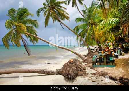 Colombia, la Isla de Providencia, Rolland's Bar ubicado en Playa Manzanillo