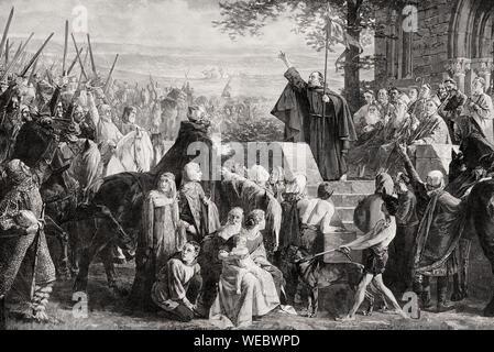 El Papa la predicación de la cruzada, del siglo XI.