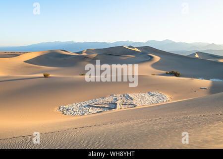 El Mesquite flat dunas de arena en el Parque Nacional Valle de la Muerte, California, Estados Unidos de América, América del Norte