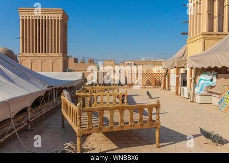 Windtower badgir Windcatcher,,, Yazd, provincia de Yazd, Irán