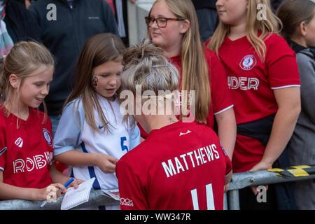 Bristol, Inglaterra, 7 de septiembre de 2019. Barclays FA Womens Super League match entre Bristol City Women vs Brighton & Hove Albion en Ashton Gate.