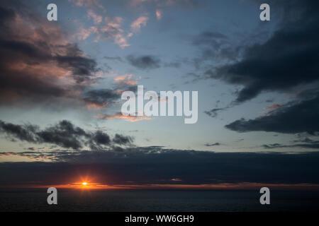 La isla de Skye, sunset Foto de stock