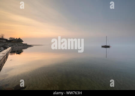 Europa, Polonia, Pomerania, Rewa, Mar Báltico, barco