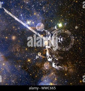Las naves espaciales. Arte cósmico, papel tapiz de ciencia ficción. Los elementos de esta imagen proporcionada por la NASA